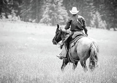 Photograph - Cowboy Country Bw by Athena Mckinzie