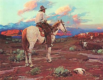 Ranchers Painting - Cowboy Country by Pg Reproductions