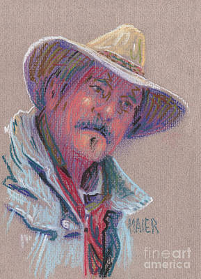 Drawing - Cowboy by Donald Maier