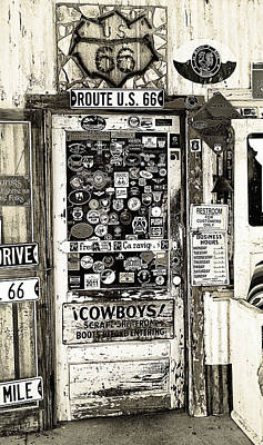 Cowboy Door Art Print by Ron Regalado