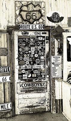 7up Sign Photograph - Cowboy Door by Ron Regalado