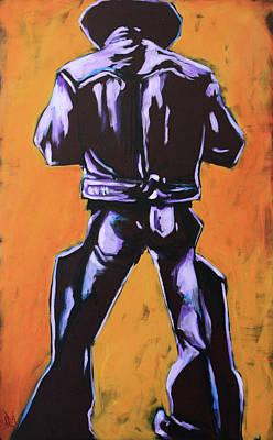 Cowboy Drumroll In Purple Art Print by Chris Riley