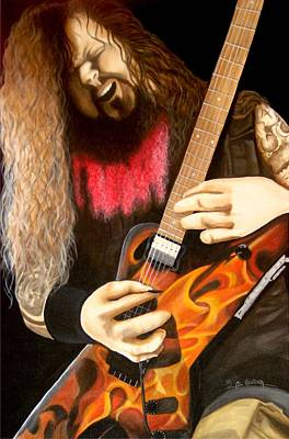Heavy Metal Painting - Cowboy From Hell by Al  Molina