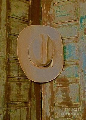 Photograph - Cowboy Hangs It Up 2 by Barbie Corbett-Newmin