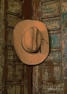 Photograph - Cowboy Hangs It Up 3 by Barbie Corbett-Newmin