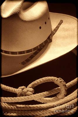 Cowboy Hat And Lasso Art Print