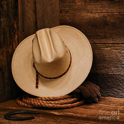 Cowboy Hat Photograph - Cowboy Hat And Gear by Olivier Le Queinec