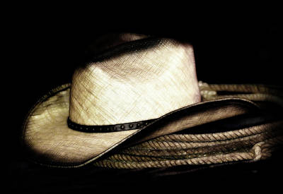 Photograph - Cowboy Hat And Rope by Athena Mckinzie