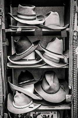 Photograph - Cowboy Hat Display by Marilyn Hunt