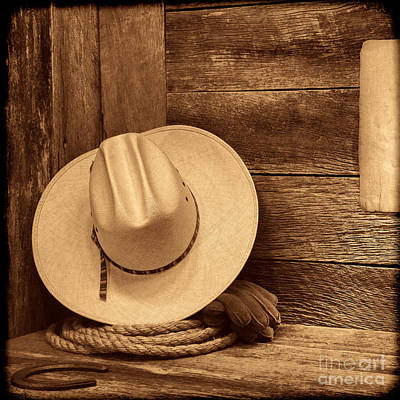 Cowboy Hat In Town Art Print