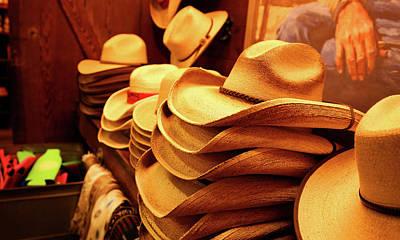 Photograph - Cowboy Hats by Judy Vincent