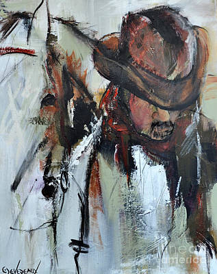 Art Print featuring the painting Cowboy II by Cher Devereaux