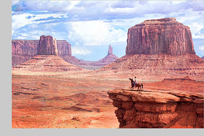 Cowboy In Monument Valley Art Print by Kantor