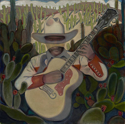 Painting - Cowboy In The Cactus by John Reynolds