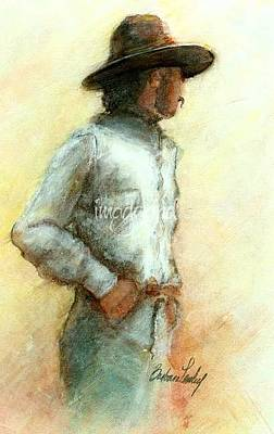 Painting - Cowboy In Thought by Barbara Lemley