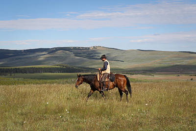 Photograph - Cowboy Landscapes by Diane Bohna