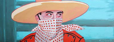 Pee Wee Herman Painting - Cowboy Peewee by Jason Wright