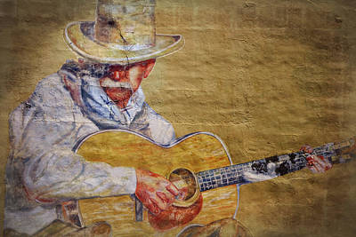 Mural Photograph - Cowboy Poet by Joan Carroll