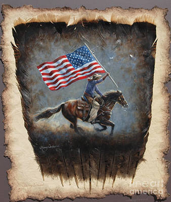Painting - Cowboy Pride by Sherry Orchard