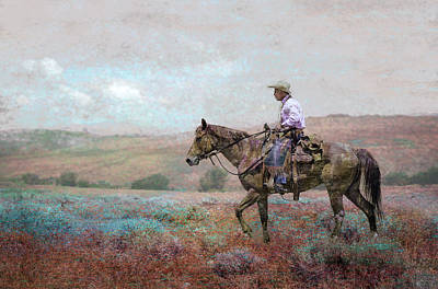 Digital Art - Cowboy by Rick Mosher