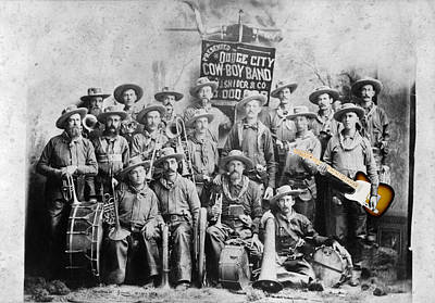 Photograph -  Cowboy Rock Band 1885 by Richard Reeve