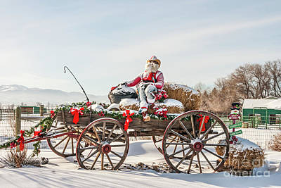 Photograph - Cowboy Santa Taking A Quick Break by Sue Smith