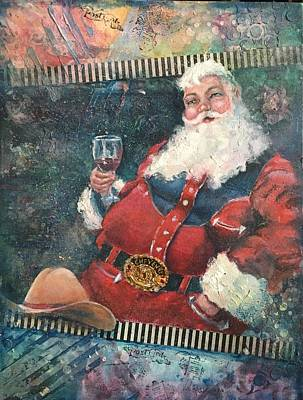 Painting - Cowboy Santa by Vicki Ross