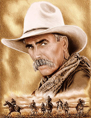 Landmarks Royalty-Free and Rights-Managed Images - Cowboy sepia edit by Andrew Read