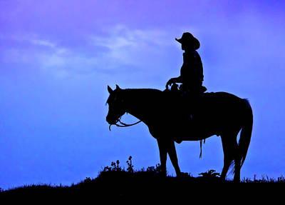Mellow Yellow - Cowboy Silhouette by Abby Krim