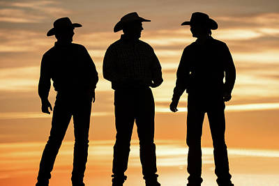 Cowboy Hat Photograph - Cowboy Silhouette by Todd Klassy
