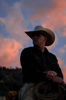 Photograph - Cowboy Sunset by Jack Bell