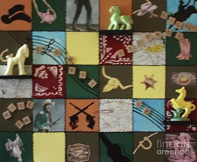 Ceramic Mixed Media - Cowboy Up by Barbara Sutton