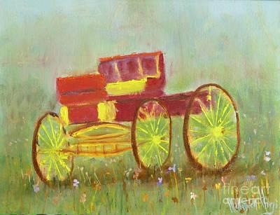 Cowboy Wagon Art Print