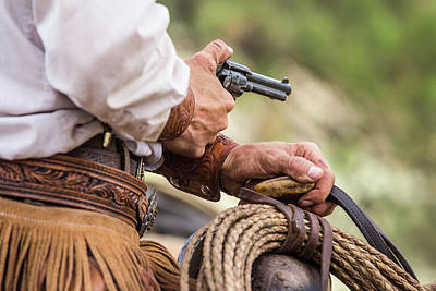 Photograph - Cowboy Working Hands by Steven Bateson