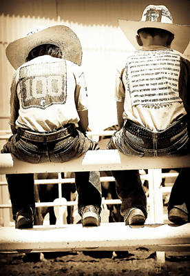 Photograph - Cowboy Youngsters by Athena Mckinzie
