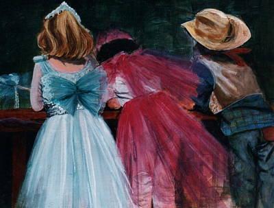 Cowboys And Queens Art Print by Victoria Heryet