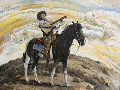 Painting - Cowboy's Dream by Paula Blasius McHugh