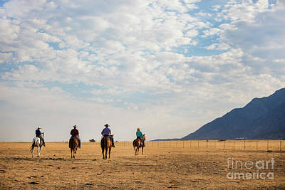 Photograph - Cowboys On The Open Range by Diane Diederich