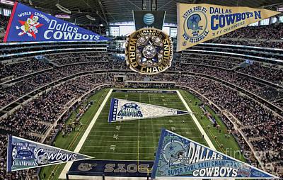 Cowboys Super Bowls Art Print