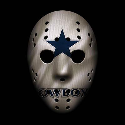 Photograph - Cowboys War Mask 3 by Joe Hamilton