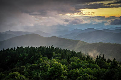 Photograph - Cowee Mountain Sunset by Serge Skiba