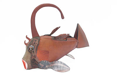 Mixed Media - Cowfish Shoulder Bag by Michael Jude Russo