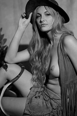 Photograph - Cowgirl 9 by Paul Miners