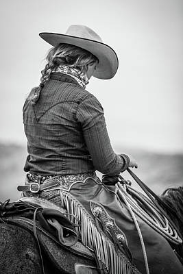 Photograph - Cowgirl At Work by Fast Horse Photography