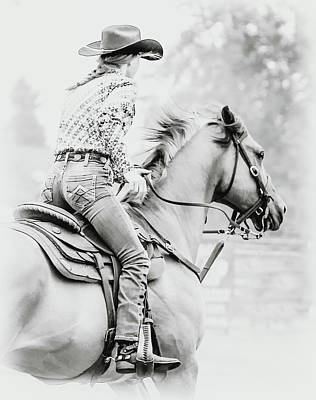 Photograph - Cowgirl by Athena Mckinzie