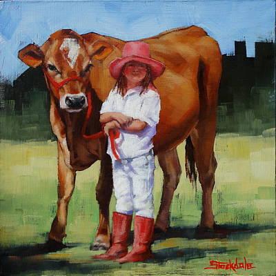 Painting - Cowgirl Besties by Margaret Stockdale