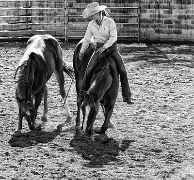 Cowgirl Art Print by DJ Tonie