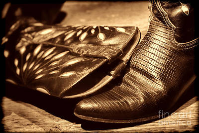 Photograph - Cowgirl Gator Boots by American West Legend By Olivier Le Queinec