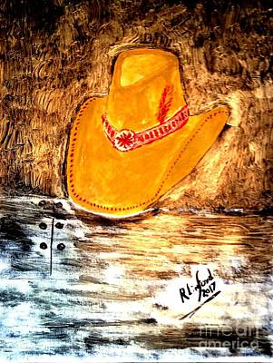 Painting - Cowgirl Hat by Richard W Linford