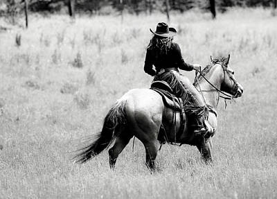 Photograph - Cowgirl Horseback by Athena Mckinzie